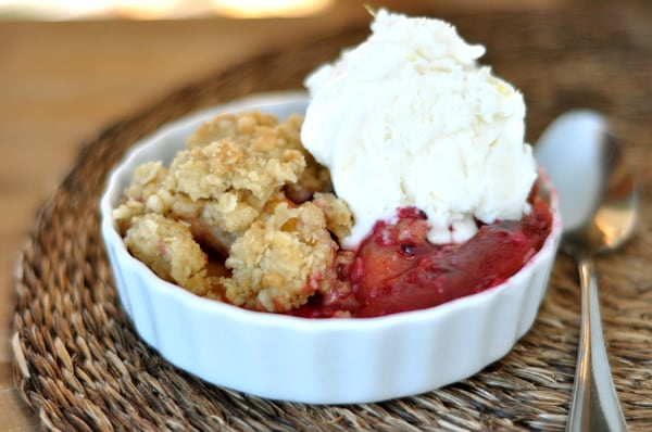 Blackberry-Nectarine Crumble