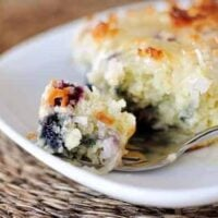 Blueberry Coconut Cake with Lemon Sauce