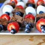 Brownie {& Fruit} Kebabs