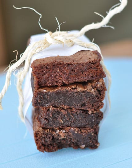 Deep, Dark Chocolate Brownies
