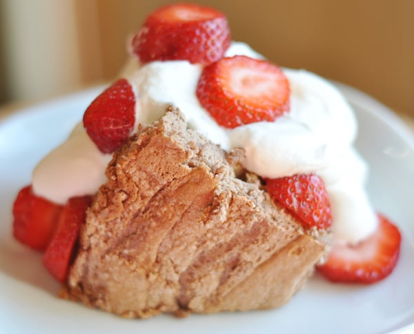 Ethereal Chocolate Angel Food Cake
