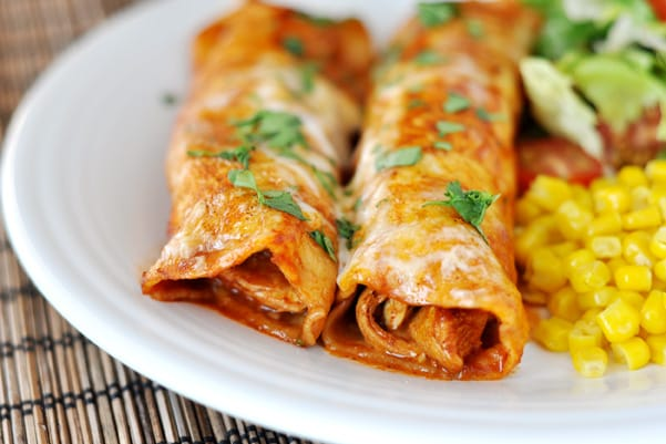 Red Chile Sauce Chicken Enchiladas