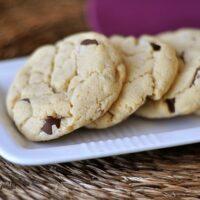 Cream Cheese Chocolate Chip Cookies {Egg-Free}