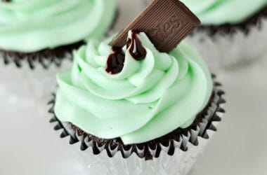 Over-the-Top Andes Mint Cupcakes