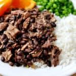 Brazilian Feijoada {Slow Cooked Pork and Black Bean Stew}