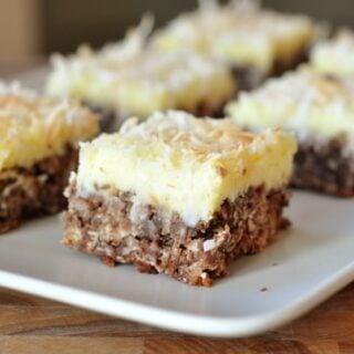Chocolate Haystack Cream Cheese Squares