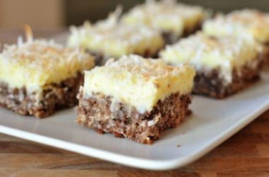 Chocolate Haystack Cream Cheese Squares