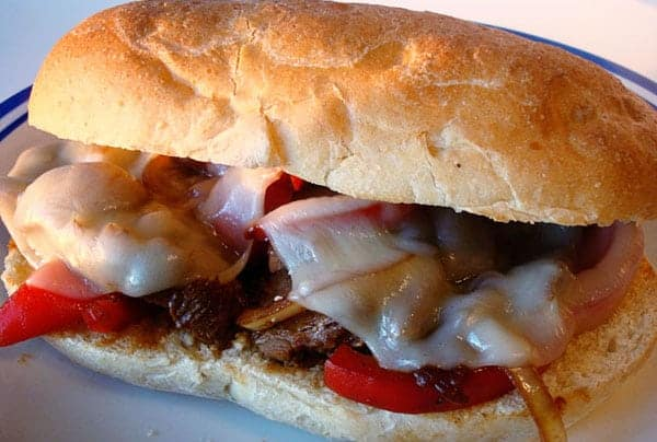 Steak Hoagies with Mushrooms, Onions and Peppers