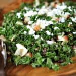 Massaged Kale and Craisin Salad with Feta Cheese