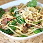 Linguine with Bacon and Spinach