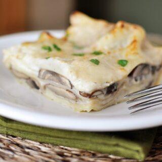 Mushroom Lasagna with White Sauce