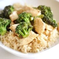 Simple Orange Chicken with Broccoli