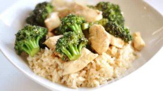 Simple Orange Chicken with Broccoli