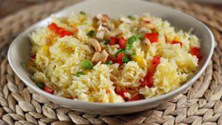 Orange Cashew Rice {With Baked Tilapia}