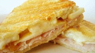 Smoked Turkey Brie and Apple Panini
