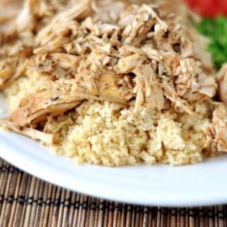 Mediterranean Pork with Couscous {Slow Cooker}