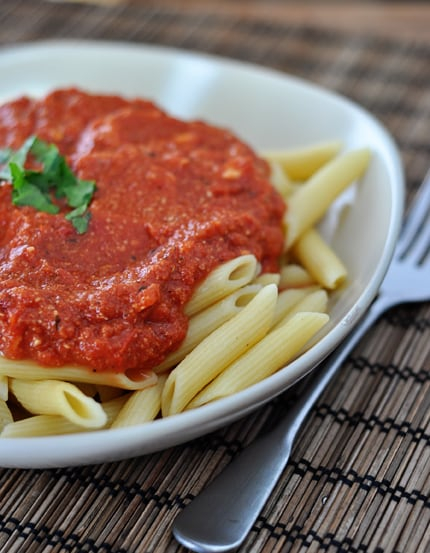 Red Pasta Sauce with Brie