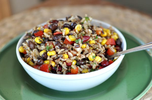 Confetti Rice and Bean Salad - Mel's Kitchen Cafe