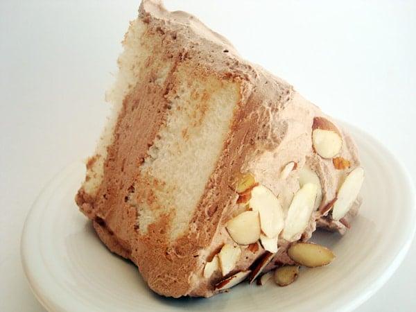Chocolate Cream Angel Food Cake