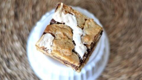Manteiga de amendoim e caramelo Quase barras de biscoito 7
