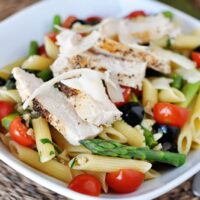 Spring Penne Pasta with Light Butter Sauce
