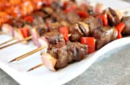 Grilled Steak and Veggie Kebabs