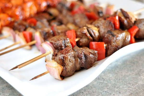 Grilled Steak and Veggie Kebabs