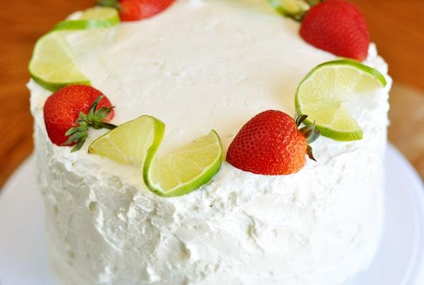 Strawberry-Lime Cream Cake