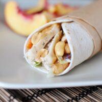 Thai Chicken Wraps with Peanut Sauce