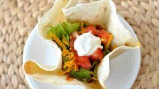 Homemade Taco Tortilla Bowls