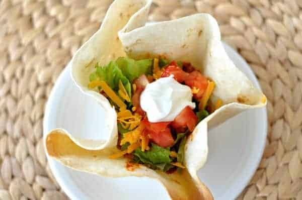 Homemade Taco Tortilla Bowls