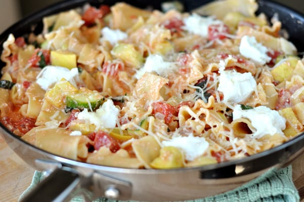 Skillet Summer Vegetable Lasagna