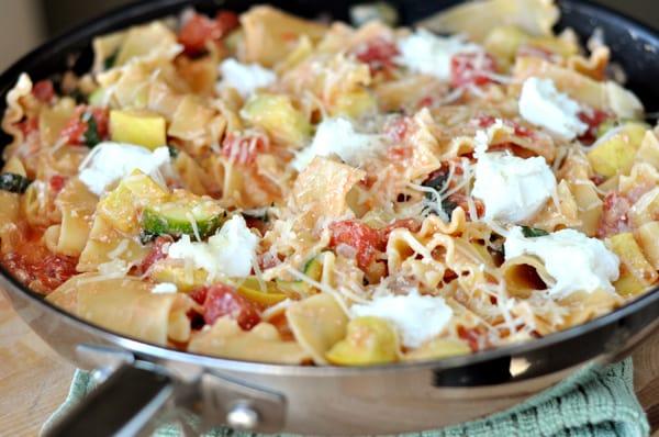 Skillet Summer Vegetable Lasagna