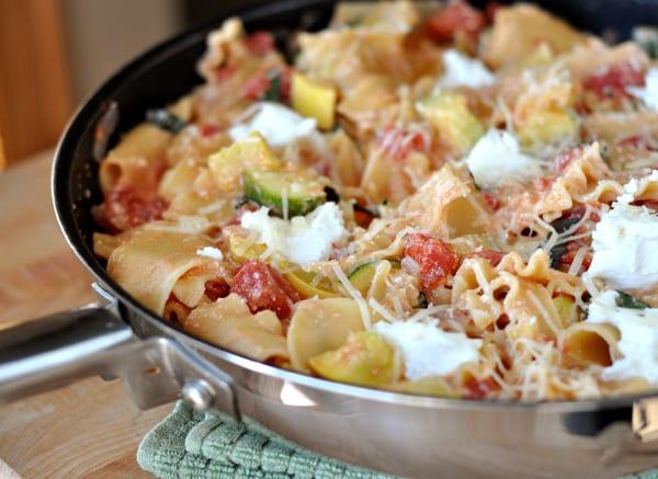 skillet summer vegetable lasagna - Mels Kitchen Cafe