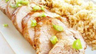 Roast Pork Tenderloin with Asian Glaze