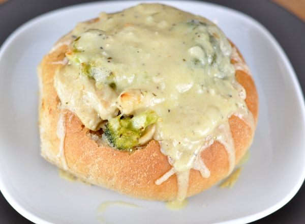 Chicken Cordon Bleu Bread Bowls
