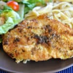 Breaded Garlic Chicken in Lemon-Butter Sauce