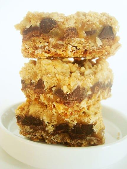 Oatmeal Chocolate Caramel Bars