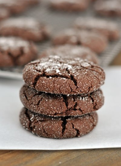 Soft Chocolate Sugar Cookies