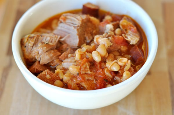 Crockpot Country-Style Pork and White Beans