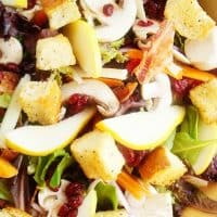 Gourmet Green Salad with Homemade Red Wine Vinaigrette