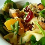 Spinach Chicken & Pasta Salad with Teriyaki Vinaigrette