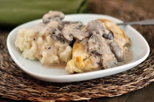 Smothered Chicken with Mushroom Gravy