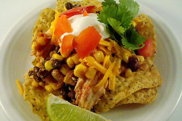 slow cooker southwest chicken stacks - Mels Kitchen Cafe