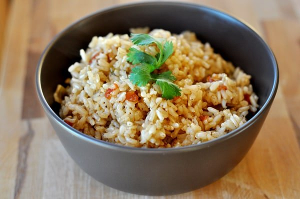 Baked Brown Spanish Rice