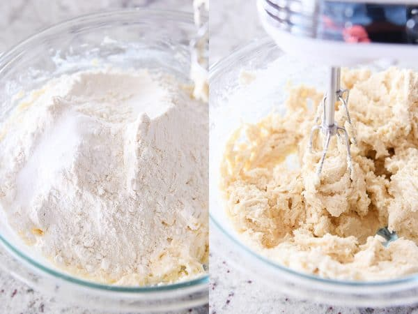 mixing batter for easy sugar cookie bars