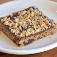 Chocolate Toffee Shortbread Bars
