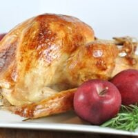 Roasted {Brined} Turkey and Gravy