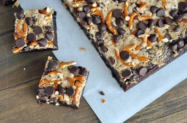 Pretzel and Toffee Brownies