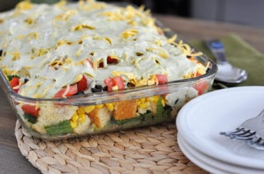 Layered Mexican Cornbread Salad